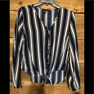 Rue 21 Striped Blouse